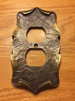 Vintage Amerock Carriage House Antique Brass Outlet Cover Plate
