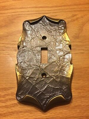 Vintage Amerock Carriage House Antique Brass Light Switch Cover Plate