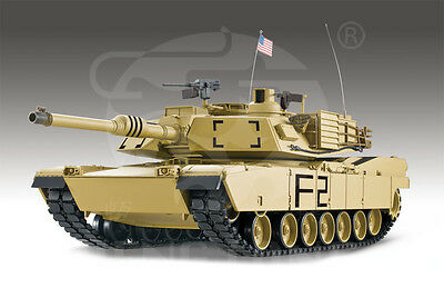 1/16 2.4G RC Henglong Smoke & Sound USA M1A2 Abrams Tank Premier Version