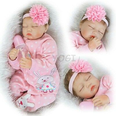 "20-22"" Gril Clothes Reborn Baby Dolls Newborn Replace Accessories Headbands Sock"