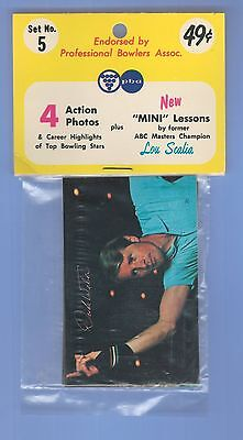 RARE Vintage 1971 PBA Bowling Trading Card Pack Of 4 Cards + 1 Lesson Card Set 5
