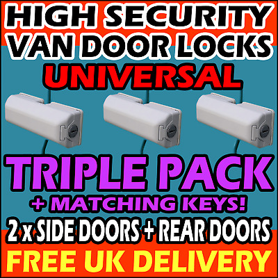 TRIPLE UNIVERSAL = 1x Rear Doors + 2x Side Loading Doors High Security Van Locks