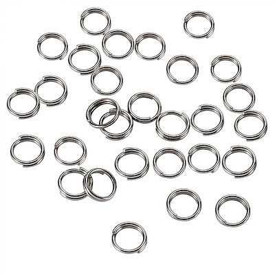 190Pcs Double Loops Stainless Steel Split Jump Rings Jewelry Craft Findings 5mm