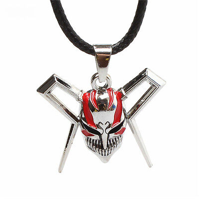 Punk Anime Bleach Skull Mask Metal Silver Pendant Necklace Cosplay Jewelry Hot
