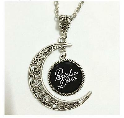 Charm Crescent Moon Panic! At the Disco Band Logo Pendant Necklace