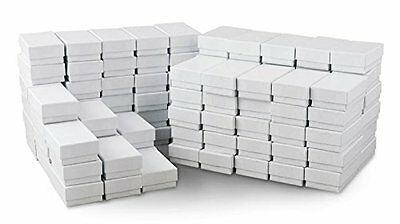 White Jewelry Gift Boxes Cotton Filled #21 Case of 100 Packaging Display Retail