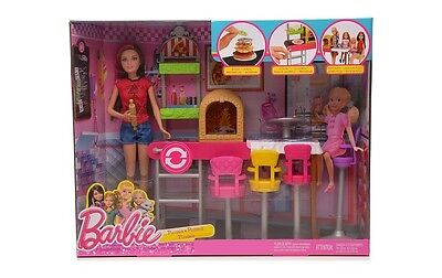 ¡Día de la diversión de hermanas BARBIE! Barbie Fun Day PIZZERIA PLAYSET OFICIAL