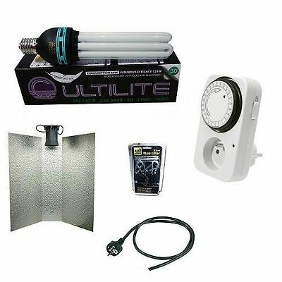 KIT ILLUMINAZIONE INDOOR CFL 200W AGRO 2100°K Coltivazione indoor in Grow Box