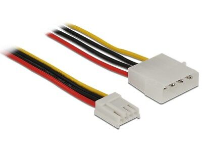 Delock Power Cable Molex 4 pin male > 4 pin FDD floppy female 60 cm 18 AWG