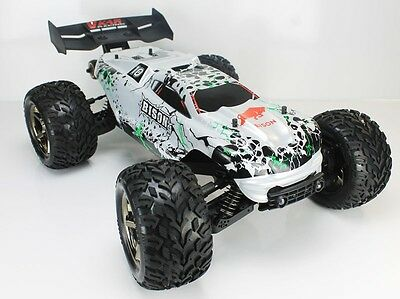 Coche RC Bison Monster Truck 4WD 1/8 Brushless 11.1v Lipo  Plateado VKar Racing