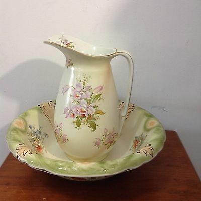 Decorative Vintage Water Jug And Bowl