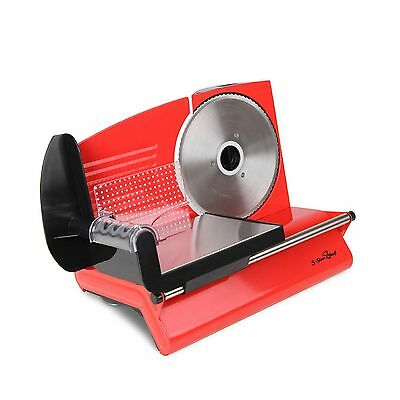 Electric Meat Slicer Stainless Steel Blade Deli Cafe Food Slicing Machine Red