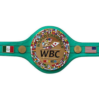 WBC Championship Boxing Belt Mexico Genuine Leather 3D Replica Adult