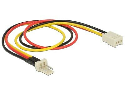 Delock Power fan / cooler extension Cable 3 pin male > 3 pin female 30 cm