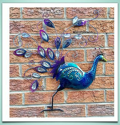 Peacock Diamante Wall Art Indoor Or Outdoor for Home And Garden Ambience