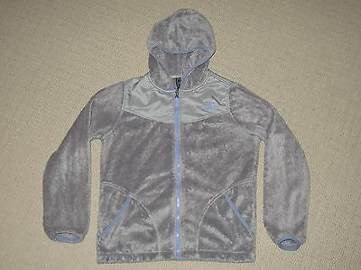 Girls The North Face Denali Osito Fleece Hoodie Jacket Youth Large 14/16 Gray