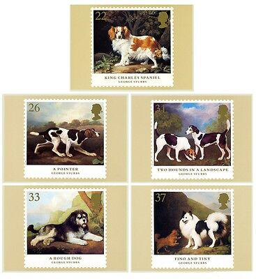 GB POSTCARDS PHQ CARDS MINT SET. 1991 Dogs FULL SET PACK 132 10% OFF ANY 5+
