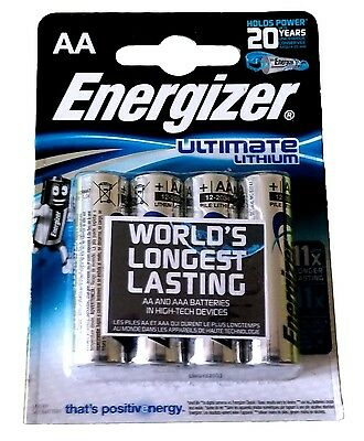 4x Ultimate Lithium AA Blister 1,5V Ultimate Lithium AA Energizer