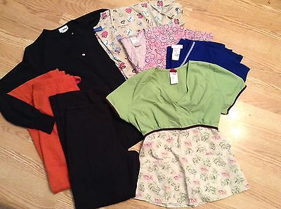 Large Lot Of Mixed Scrubs-Sz Small- Jacket, Pants, Tops