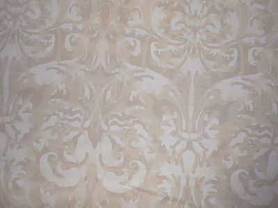 7+Y new Peter Fasano hand printed cotton fabric Sandhurst in Crema damask