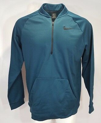 b0ef5d60720b Nike Mens Therma Training Pullover Medium Large 2XL Midnight Turquoise  800185