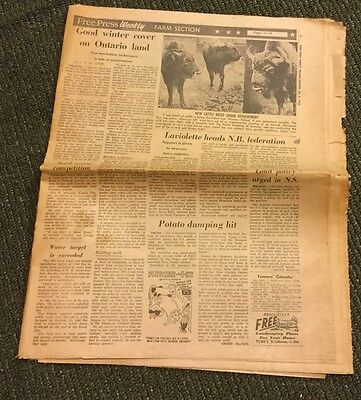 Vintage Prairie Farmer From 1962 Newspaper FREE Shipping!