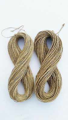 2ply-3ply 1m-1000m Natural Brown Soft Jute Twine Sisal String Rustic Shabby Cord