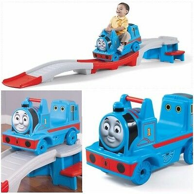 Roller Coaster Train Riding Ride On Tracks Rolling Kids Tank Engine Play Indoor