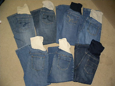 womens mixed brands 7pc.maternity jeans/crop jeans lot small/PS