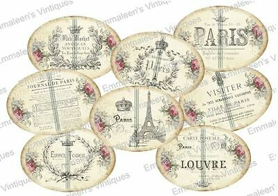 Vintage Image Victorian Grunge French Paris Perfume Label Waterslide Decal LB431