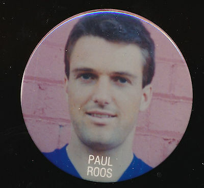 1980s Paul Roos Fitzroy Lions Football Club player Pin Badge