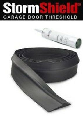 Storm Shield Threshold Weather Seal Barrier & Adhesive For Garage Door