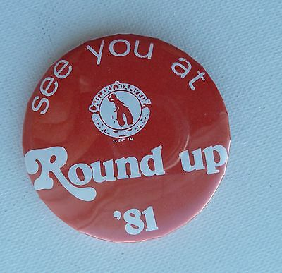 Calgary Stampede Roundup 1981 See You At Round Up Pin Button