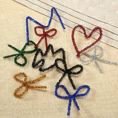 6 Colours Chenille Craft Stems Pipe Handmade Cleaners Sparkle Glitter 20/100pcs