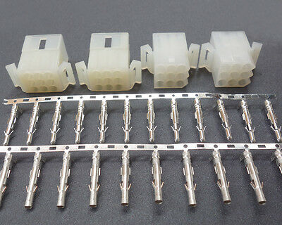"""2 Kit 9 Pin Way Circuit Male Female Connector For Molex 0.093"""" .093"""" Pins Plug"""