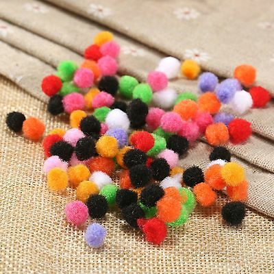 100/500pcs 8mm Colourful Soft Pompon Balls Pom-pom Sewing Craft Hair Décorations