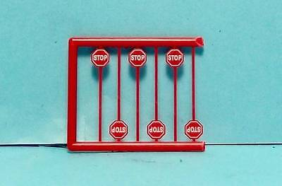 N Scale-Tichy Train Group-Scenery Accessories-6 Pcs. Modern Red Stop Signs-2N