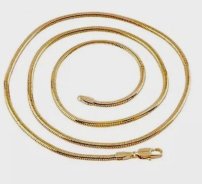 Unisex 18K Yellow Gold Filled Necklace - 60cm. New