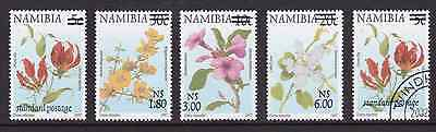 NAMIBIA - 2000 - Flowers & Animals, opt. Complete set, 4v. Mint NH