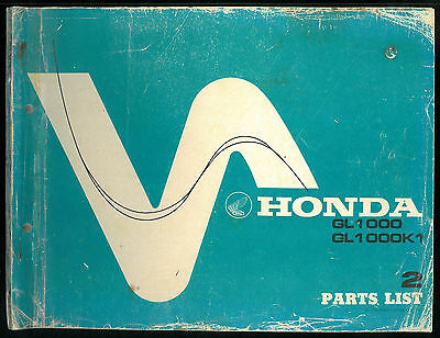 Parts List HONDA GL 1000 - GL1000 K1 GOLD WING Catalogue de pièces Manuel Manual