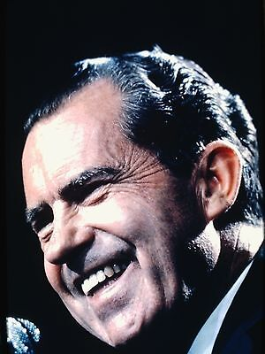 RICHARD NIXON - US President - Original Vintage 35mm PORTRAIT Slide