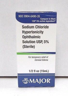 Major Sodium Chloride Ophthalmic Solution 5% 15ml  (Compare to Muro 128)