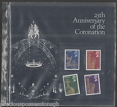 Gb Mnh Stamp Set On Souvenir Book 25Th Anniversary Of Coronation 1978 Umm