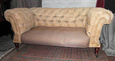 Rare Victorian Double Drop Arm Chesterfied  Sofa