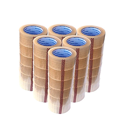 "36 Rolls Carton Box Sealing Packing Package Clear Tape 2 Mil 2""x110 Yards 330 ft"