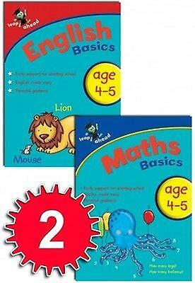2 Book Set Leap Ahead Maths & English Basics 3  4 Years Pre School Home Learning