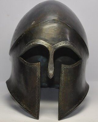 Solid bronze Greek Corinthian helmet armor armour in the finest style Spartan