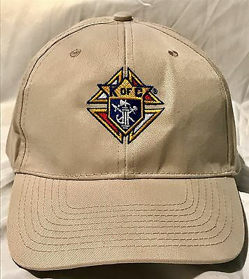 Knights of Columbus -TAN Hat - Cap with Embroidered Logo - Polyester Adjustable