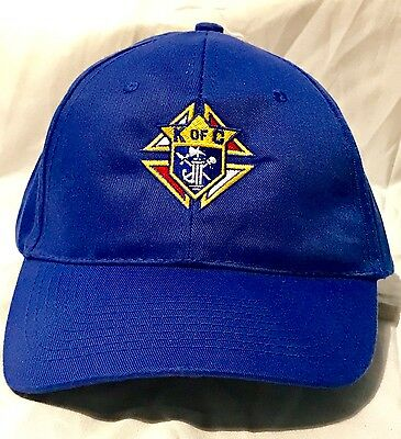 Knights of Columbus Blue Hat -  Cap with Embroidered Logo - Polyester Adjustable