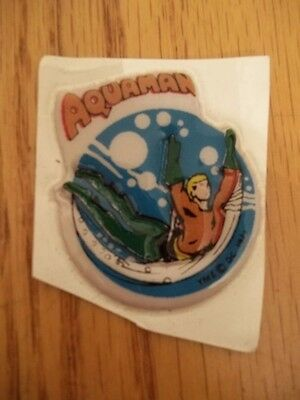 Vintage Rare 1971 Lot Of 6 Dc Comics Puffy Stickers Aquaman Rare Red + Orange